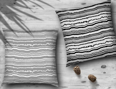 Blacke and white agate seamless pattern