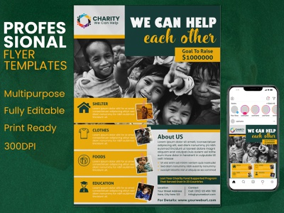 Charity Flyer Template - Donation Charity Flyer donating donate poster donate charityposter charity flyer charity event charity professionalflyer business leafletdesign illustration graphicdesign graphicartist flyerdesign eventflyer design flyer design corporate businessflyer branding