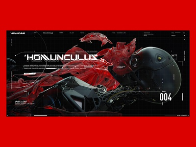 Homunculus Website Typography