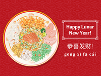 Happy Lunar New Year! Have some Lou Hei guys!