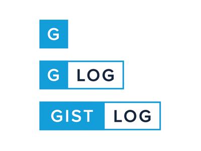 Gistlog logo wordmark logo