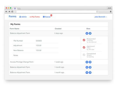 Form Details and Progress timeline status progress status bar progress bar ui