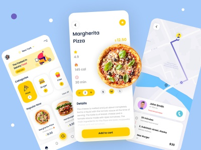 Food Delivery create with figma figma food app app design uiux online food order