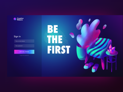 Login page. Be the first. Image