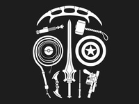 Sci-Fi-Weapon Skull