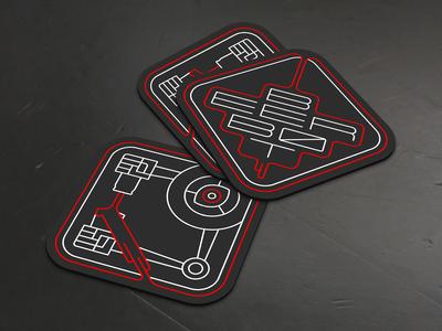 Beer Bot Coasters Mockup