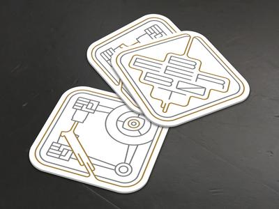 Beer Bot Coasters Mockup - Light