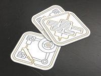 Beer Bot Coasters Mockup - Light