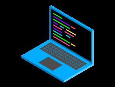Isometric Laptop Illustration