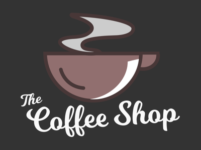 coffee shop logo icon typography logo illustration graphic design branding