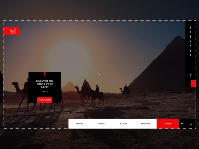 Egypt Home Page For Travel Site places website egypt clean logo ui ahq ux qwhayf design abdellatief travel