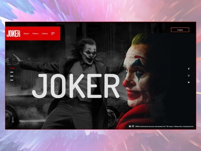 Joker Movie Website (#1 Shot) webdesign transition movie joker phoenix joaquin grundge big type animation dark branding vector clean illustration ahq abdellatief ui logo ux design
