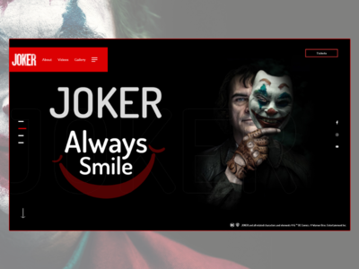 Joker Movie Website (#2 Shot)