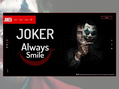 Joker Movie Website (#2 Shot) abdellatief ahq qwhayf illustration clean white website web ux ui review netflix movie joker phoenix joaquin imdb homepage film black