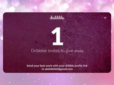 Dribbble invites away give give away join dribbble invite app dribbble invitation qwhayf ui design ahq ux abdellatief