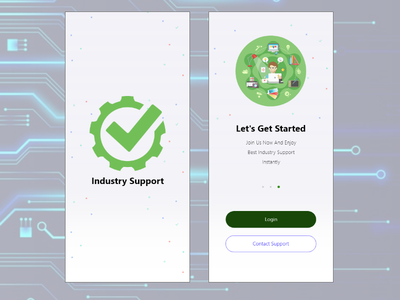 Industry Support Shot #1 android ios colorful branding app qwhayf logo design ux ui ahq abdellatief