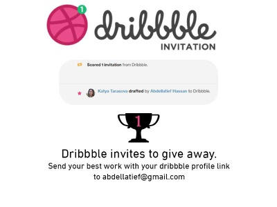 Dribbble invites art join animation invitation away give invite dribbble giveaway app ui ahq design qwhayf ux abdellatief