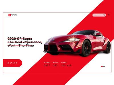 Toyota 2020 GR Supra webdesign website toyota gr supra gr supra community animation graphic web qwhayf ux design ahq ui abdellatief