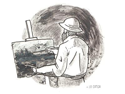CATCH catch impressionist livepainting artist monet impressionism design inking ink inktober illustration art illustration art inktober2019