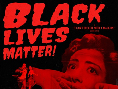 Black Lives Matter halloween movie horror collage animation poster experiment layout typography design type blm