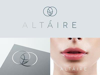 Altáire spa skincare clinic beauty health design logo