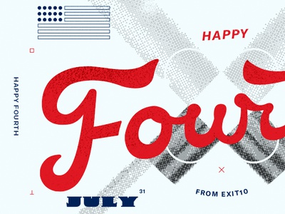 Fourth Post letter hand layout type day independence happy month july fourth 4th