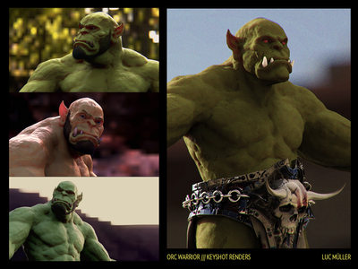 Orc warrior / keyshot renders