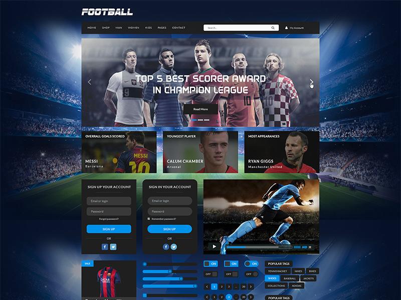 Sport Kit UI sport kit ui flat elegent football