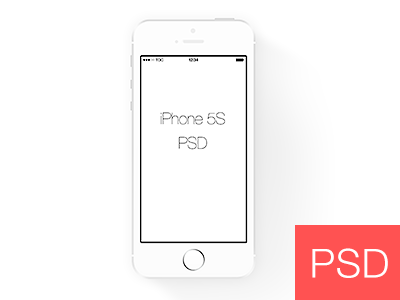 Simple White Iphone 5s Frame by W.H.Y - Dribbble
