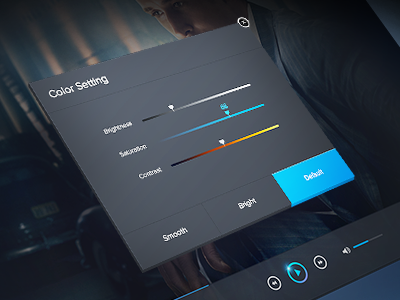 Player color setting player color setting flat default mac volume movie