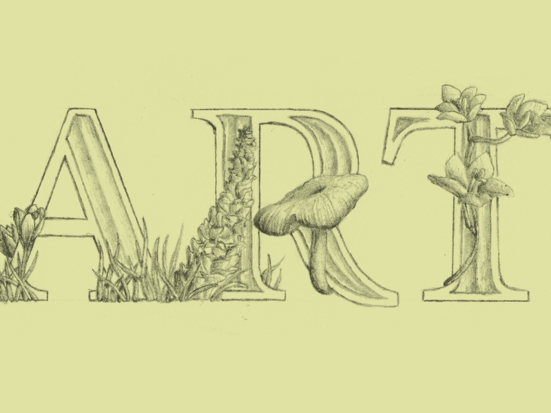 Earth Day art earth day earth day typography plants floral nature handlettering