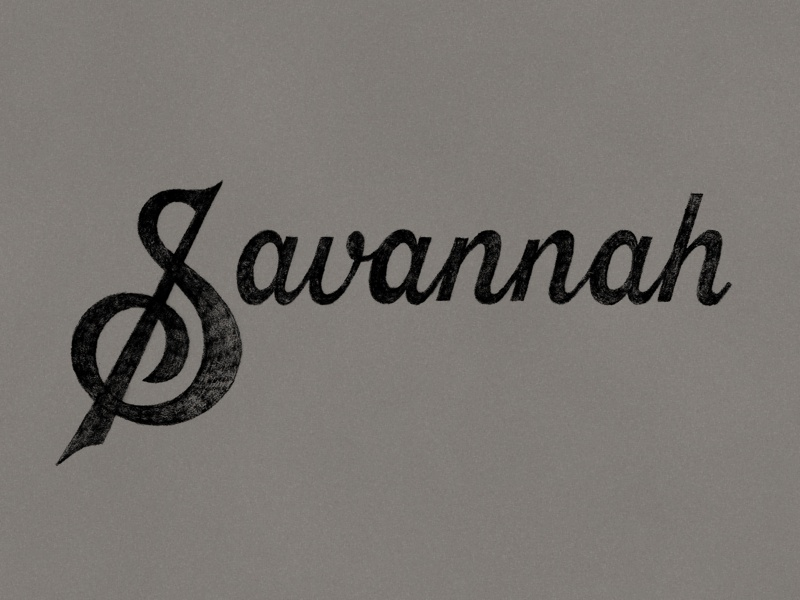 Savannah Sketch savannah sketch handlettering lettering typography type