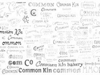Common Kin Logotype Process