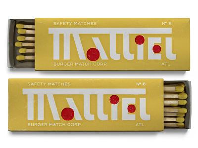 08. Mattiel by Mattiel type typography matches matchbox new york art deco atlanta mattiel