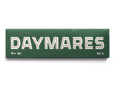 05. Daymares by WebsterX inline type design lettering typography type matchbox match box matches