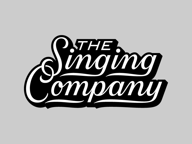 The Singing Company varsity jacket varsity script type typography lettering