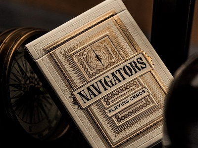 Navigators are now available! embossing gold foil playing cards gold illustration mattymatt type design custom font lettering typography type