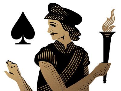Jack of Spades theory11 navigators sailor torch etching engraving jack spade illustrations
