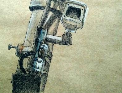 """Иллюстрация """"Скрытая камера"""""""