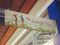 Google fiber team sign