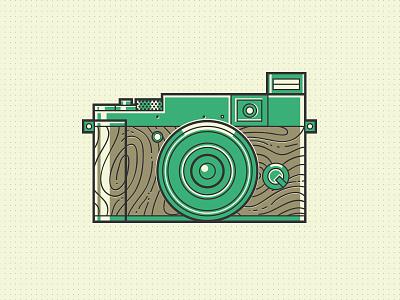 Camera fujifilm camera flat wood retro