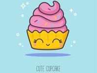 ABC sweets: Cute Cupcake