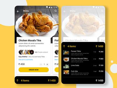 Foodbucket motion task mobileapp multicards design dish mobile cards app recipeapp resturent ui ux foodui