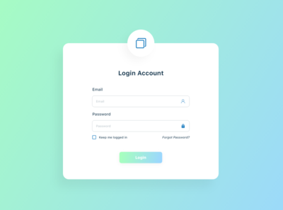 Simple Login Page UI With Gradient Background