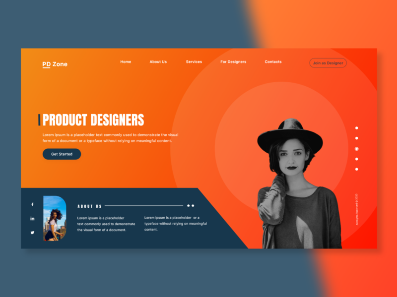 Product Design Page Concept