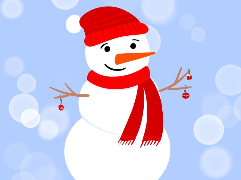 Snowman snow marry christmas