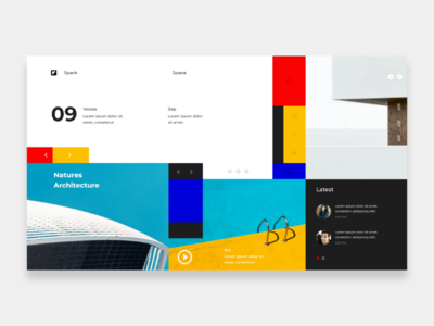 Architectural Website minimal building architecture concept webdesign adobe xd pattern colors