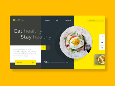 Eat Healthy Eat Fresh/ food website