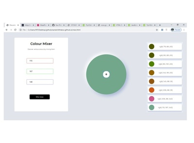 Colour palette HTML5
