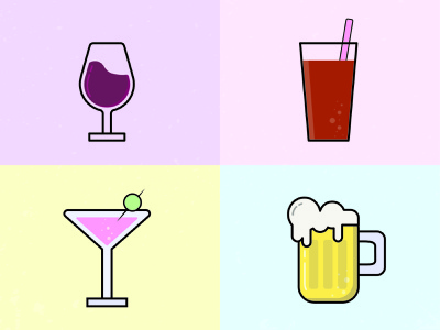 Bar Icon Project graphics illustration 2d design drinks bar icon bar icons assignment college vector application adobe illustrator design
